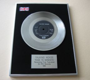 TALKING HEADS -  ROAD TO NOWHERE PLATINUM single presentation DISC